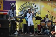 Band jamming at the Wampewo Roundabout