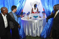 L-R Airtel Managing Director Arindam Chakrabarty and State Minister for ICT Mr. Nyombi Thembo unveil the Samsung S5