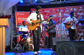 Myko Ouma performs at the Airtel Samsung S5 unveiling