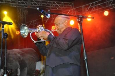 Hugh Masekela performing