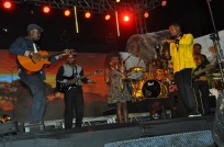 Isaiah performs with Myko Ouma, Moroots and Brian