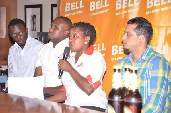 Grace Nshemeire Gwaku (2R) addresses the media during the announcement of the Ne-Yo concert scheduled for October 30, 2015 at the Lugogo Cricket Oval