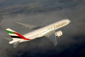 An Emirates Boeing 777-200LR aircraft