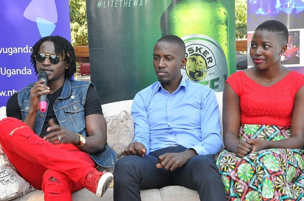 L-R Davist Ntare winner of the Tusker Malt Project Fame 4 season speaks ...
