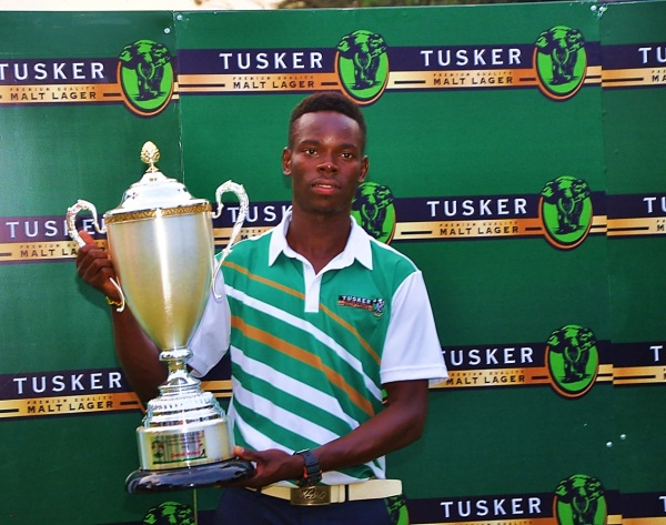 Ronald Otile winner of the Tusker Malt Uganda Open amateur stroke play championship